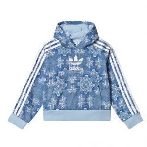 adidas Originals Blue Patterned Trefoil Logo Hoodie
