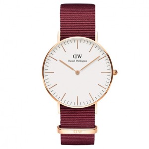 Daniel Wellington Classic Roselyn Rose Goldtone and NATO Strap Watch, 36mm