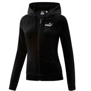 Essentials+ Velour Hooded Jacket