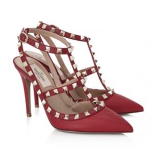 VALENTINO GARAVANI Valentino Garavani Rockstud Ankle Strap Heels