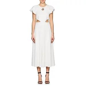 DEREK LAM 10 CROSBY Crepe Midi-Dress