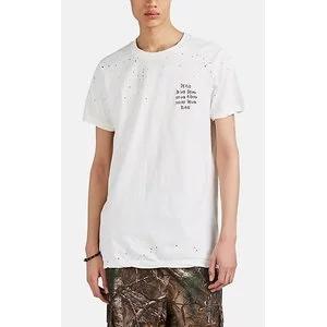 """KSUBI """"Eat Acid"""" Distressed Cotton T-Shirt"""