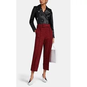 BARNEYS NEW YORK Leather Crop Moto Jacket