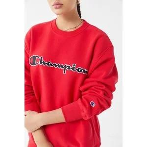 Champion Oversized Chain Stitch Script Crew-Neck Sweatshirt