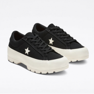 One Star Lugged Platform Low Top