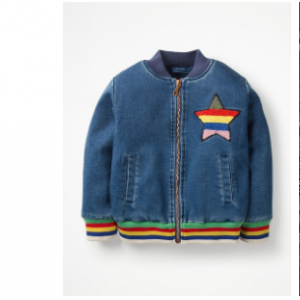 Boden JERSEY DENIM BOMBER JACKET