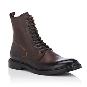 BARNEYS NEW YORK Burnished Leather Boots