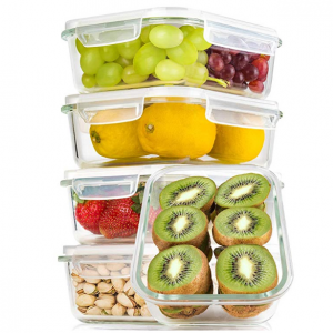5 Packs of Bayco Large Glass Meal Prep Containers, 36oz each @Amazon