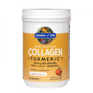 Garden of Life Multi-Sourced Collagen Turmeric Apple Cinnamon -- 7.76 oz