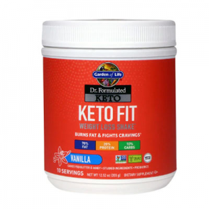 Garden of Life Dr. Formulated Keto Fit Vanilla -- 12.52 oz
