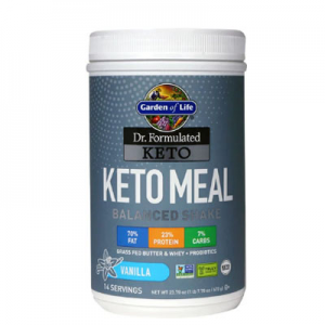 Garden of Life Dr. Formulated Keto Meal Balanced Shake Vanilla -- 23.7 oz