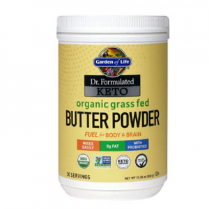 Garden of Life Dr. Formulated Keto Organic Grass Fed Butter Powder -- 10.58 oz