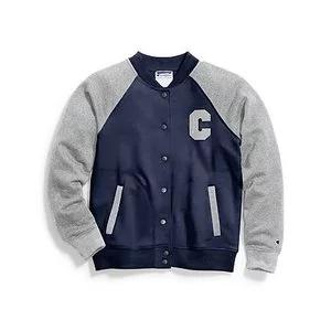Champion Women's Heritage Fleece Bomber Jacket, Block C Logo