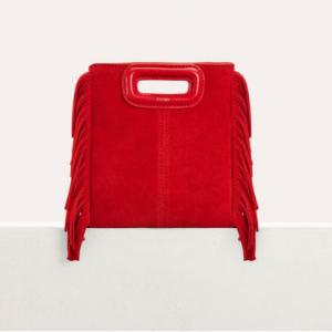 Mini M bag with suede fringe