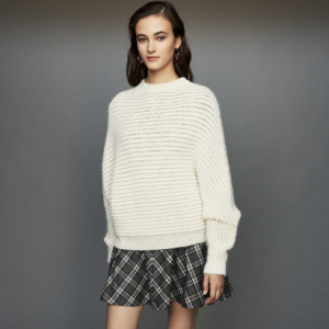 Cropped oversize sweater