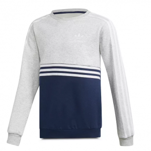 Adidas Girls' Color-Blocked Fleece Sweatshirt - Big Kid