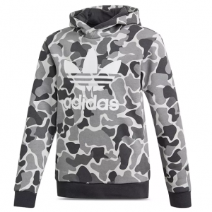 Adidas Girls' Trefoil Camouflage-Print Hooded Sweatshirt - Big Kid
