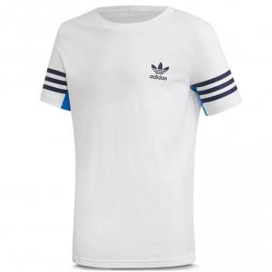 Adidas Girls' Striped Logo Tee - Big Kid