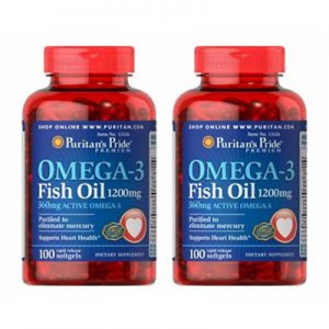 Customer Favorite Puritan's Pride Fish Oil Supplements