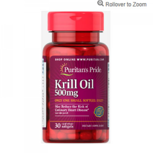 Puritan's Pride Red Krill Oil 500 mg (86 mg Active Omega-3)