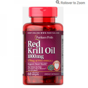 Puritan's Pride Red Krill Oil 1000 mg (170 mg Active Omega-3)