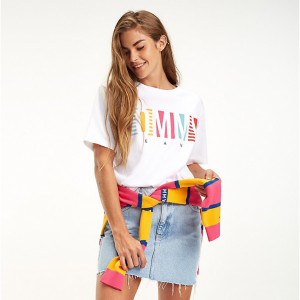 TOMMY JEANS COLOR STRIPE TOMMY T-SHIRT
