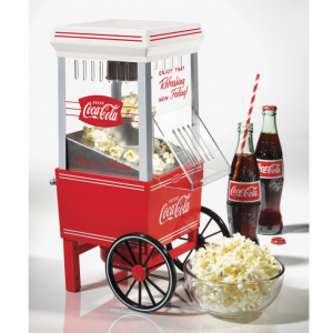 Nostalgia OFP501COKE Coca-Cola 12-Cup Hot Air Electric Popcorn Maker @ Walmart