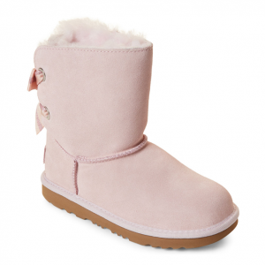 UGG AUSTRALIA  (Kids Girls) Seashell Pink Bailey Bow II Tall Boots
