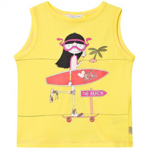 Little Marc Jacobs Yellow Miss Marc Goes Surfing Print Vest