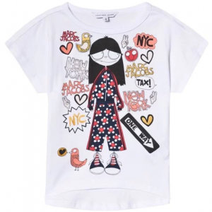 Little Marc Jacobs White Miss Marc in NYC Print T-Shirt