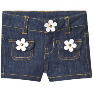 Little Marc Jacobs Blue Denim Shorts with Daisy Buttons