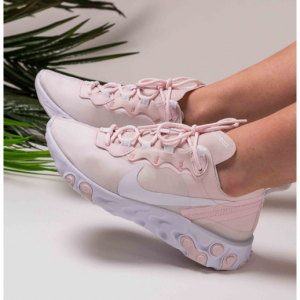 $75 OFF Women's Nike React Element 55 Casual Shoes, Pink, All Sizes @Finish Line