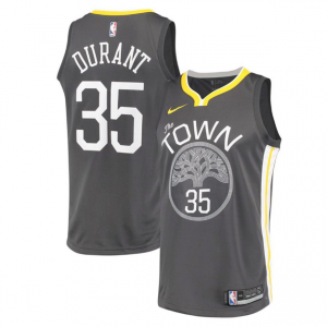 c97bdafa4c5 Men s Golden State Warriors Kevin Durant Nike Black Swingman Jersey -  Statement Edition
