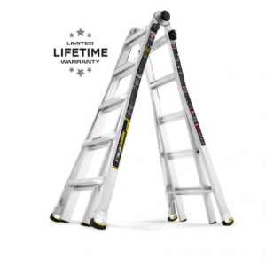 Gorilla Ladders 22 ft. Reach MPX Aluminum Multi-Position Ladder with 375 lb. Load Capacity