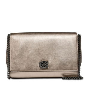 Coach Metallic Leather Turnlock Clutch On Sale @Lord & Taylor