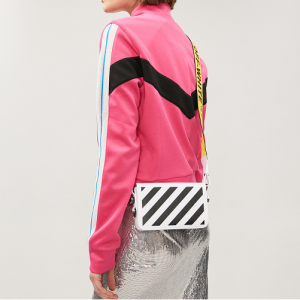 OFF-WHITE C/O VIRGIL ABLOH Diagonal Stripe Mini Leather Cross-body Bag @ Selfridges