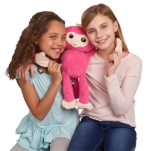 折扣升级:Fingerlings HUGS 互动毛绒猴-贝拉(粉红色) @Walmart