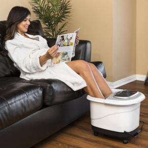 Portable Heated Foot Bath Spa w/ Massage Rollers @ Best Choice Products