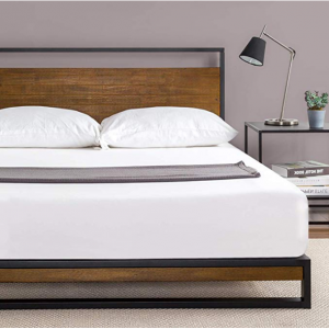 Zinus Ironline Metal and Wood Platform Bed, Full @ Amazon