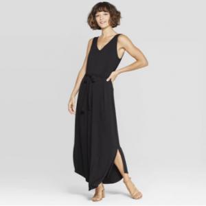 4b556ef944c Women s Floral Print Sleeveless V-Neck Knit Maxi - A New Day™ Black