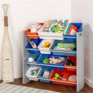 Honey-Can-Do 儿童玩具收纳架,12个收纳盒 @ Amazon