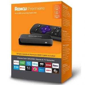 Roku Premiere 4K HDR Streaming Media Player @ Amazon