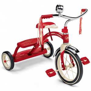 "Radio Flyer, Classic Red Dual Deck Tricycle, 12"" Front Wheel, Red @ Walmart"