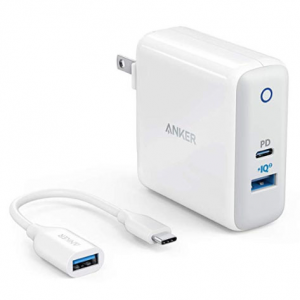 Anker USB C Charger with USB-C to USB Adapter, PowerPort II @ Amazon