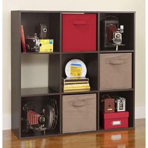 ClosetMaid 8937 Cubeicals Organizer, 9-Cube, Espresso @ Amazon