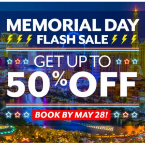 Memorial Day Flash Sale @Vegas.com