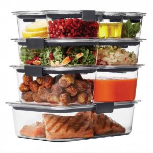 Rubbermaid Brilliance Food Storage Container Set, 18-piece, Clear @ Walmart