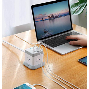 BESTEK Power Strip with USB, Vertical Cube Mountable Power Outlet Extender @ Amazon