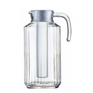 Luminarc 57.5 Ounce Clear Quadro Jug with White Lid & Infuser Tube @ Walmart