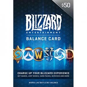 Amazon官网 战网Battle.net Store $50 电子礼卡热卖